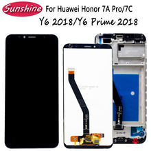 Lcd + Frame Voor Huawei Honor 7A Pro Lcd/Honor 7C Lcd Y6 2018/Y6 Prime 2018 Lcd display Met Touch Sensor Complete Montage(China)