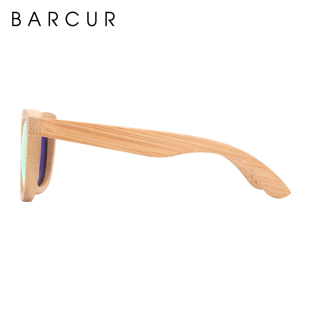 Image 4 - BARCUR الرجعية الرجال نظارات شمسية النساء الاستقطاب النظارات الشمسية الخيزران اليدوية نظارة شمسية خشبية الشاطئ نظارات خشبية Oculos دي سولsunglasses retroglasses with boxglasses with -