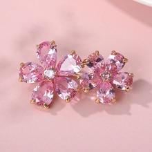 Brooch Bijoux Femme De Luxe 2020 Classic Crystal Rhinestones Zircon Flower Brooches For Women Jewelry CZ Petal Floral Pins