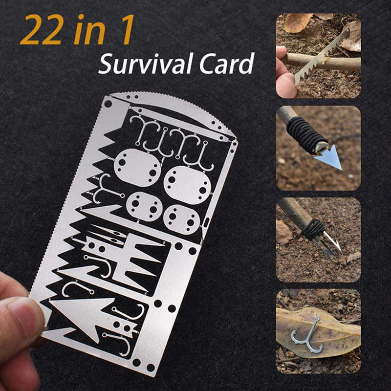Emergency Survival Self Defense EDC Multi Tools Fire Starter for Outdoor Camping