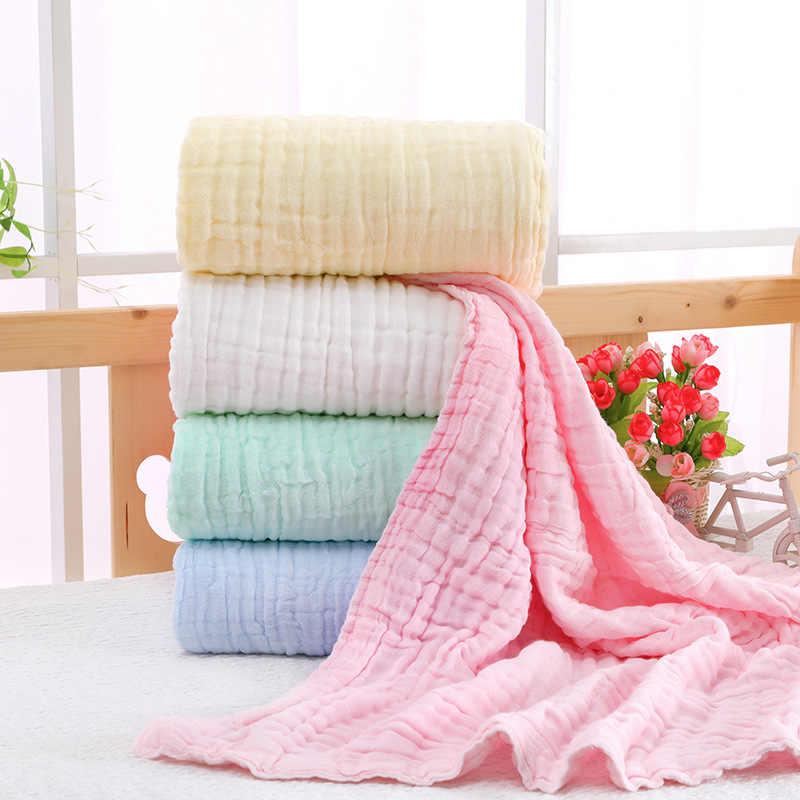 6 schichten Bambus Baumwolle Baby Decke Infant Kinder Swaddle Wrap Decke Schlafen Warme Bettdecke Bettdecke Musselin Baby Decke