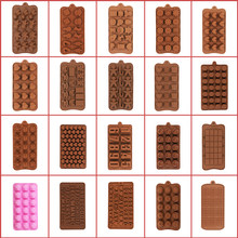 Silicone Chocolate Mold 3D Shapes Cartoon Sauqre Cute Food-Grade Silicone Non-Stick for Chocolate Candy Jelly Ice DIY Homemade