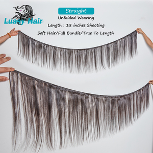 Image 2 - Luasy Brazilian Hair Weave Bundles Straight 100% Remy Hair Extension Natural color 30 32 34 36 38 40 inch Human Hair Bundles