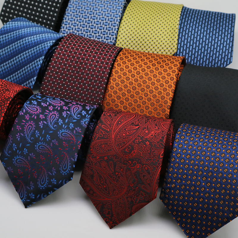 Jacquard 8CM Mens Ties Floral Paisley Formal Dress Gravata Corbatas Wedding Business Necktie Neck Ties For Men Groom Neckwear