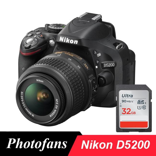 Nikon D5200 DSLR Camera with 18 55mm Lens Kits|dslr camera|nikon d5200 dslrcameras camera - AliExpress