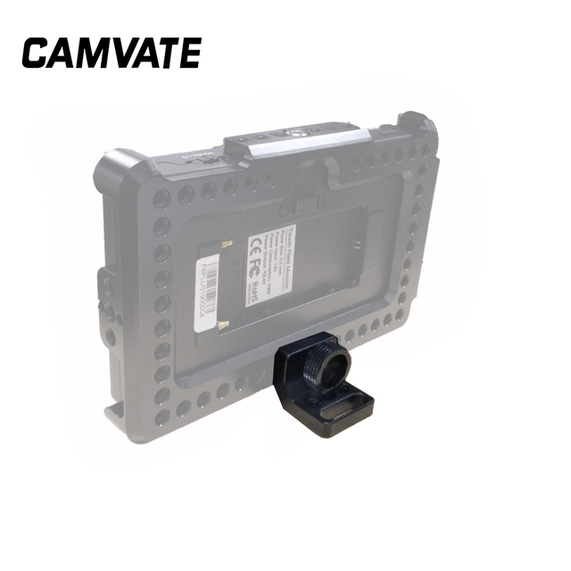 """CAMVATE SmallHD 700 Soporte de Monitor con tornillo de 1/4 """" 20, pasadores de localización para Monitor FeelWorld F6 Plus"""