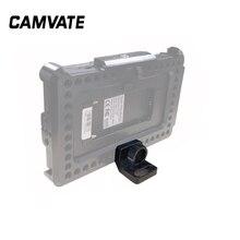 """Camvate smallhd 700 monitor suporte com 1/4 """" 20 thumbscrew montagem & localização pinos para feelworld f6 plus monitor gaiola novo"""