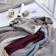 American Pastoral Style Knitted Blanket Sofa Throw Blanket Fine Wearable Blanket Cover Home Nap Blanket native american inspired wave stripe knitted throw blanket