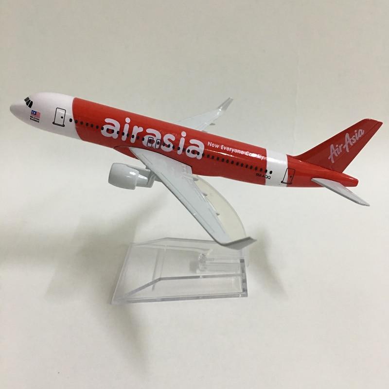 JASON TUTU 16cm Plane Model Airplane Model Air Asia Airbus A320 Aircraft Model 1:400 Diecast Metal B737 Airplanes Plane Toy Gift