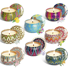 6/8Pcs/Set Soy Wax Scented Candles Ethnic Style Fragrance Candles for Travel Home Wedding Birthday Party Decoration birthday candel christmas wax rabbit candele decorative natalizie natale candles wedding decoration bengalas de boda fete 92