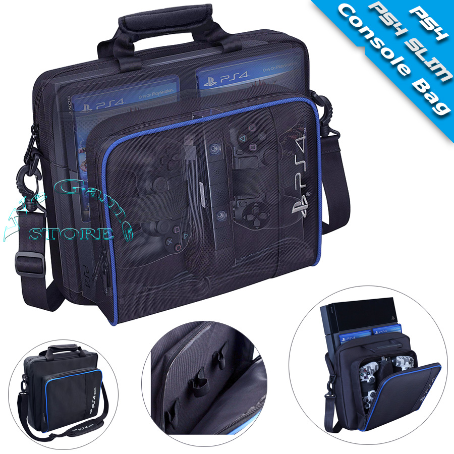 Ps4 caso ps4 magro console bolsa de viagem play station ps 4 acessórios saco de mão para sony playstation 4 ps4 jogos