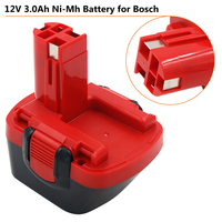 Bosch 12V GLI 12V  3000  3.0  22612 23612 K PSR 12VE BAT045 BAT046 전동 공구 용 12V Nimh 3360 mAh 3360 Ah BAT120 배터리
