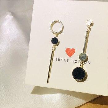 Sweet Girl pendientes 2020 moda coreana pendientes nuevos simples asimétricos geométricos nicho...