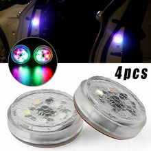 цена на 4 Pcs Car Colorful Lights Warning Lamp 5-LED Door Strobe Anti-collision Safety Colorful Accessories