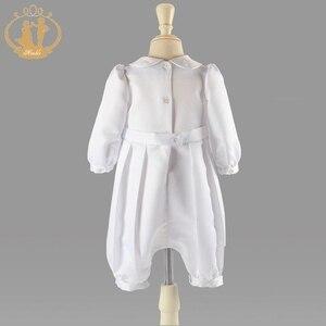 Image 3 - ذكيا الطفل الصبي الملابس التعميد أثواب الصلبة الطفل الملابس الوليد الرضع الملابس معطف أبيض 3M 6M 9M 12M vestidos