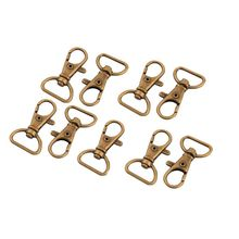 Shoulder bag metal band Insurance carabiner Rotating swivel Buckle Bronze tone 9 pcs two tone buckle decor saddle bag