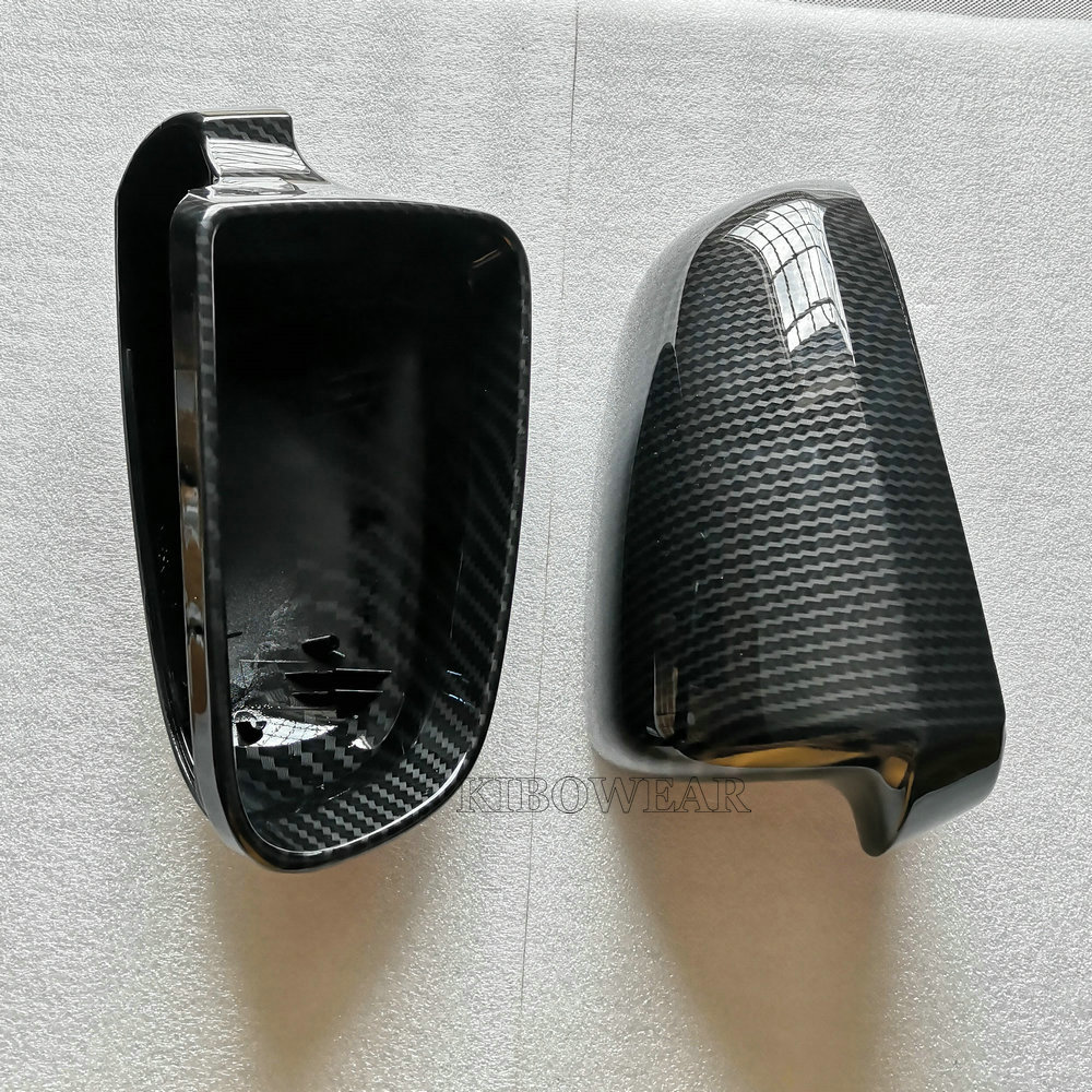 Add On Type Real Carbon Fiber Mirror Caps Fit For AUDI B7 A3 A4 RS4 A6 2004-2008