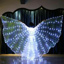 Shining Belly Dance Wings LED Glowing 360 Degree Telescopic Stick Performance Pr