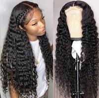 Tiefe Welle Spitze Vorne Perücke 30 Zoll Menschliches Haar für Schwarze Frauen Transparente Spitze Front Menschliches Haar Perücken PrePlucked 13x6 Frontal Perücke