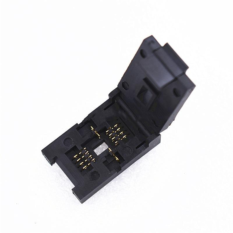 QFN8 DFN8 WSON8 SON8 Burn In Socket Pin Pitch 1.27mm IC Body Size 6x8 Mm Clamshell Test Socket Kelivn Adapter