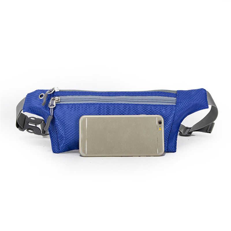 Aelicy Mini riñonera de moda para mujeres y hombres portátil USB Paquete de cintura viaje multifuncional bolso impermeable con correa para móvil 1107