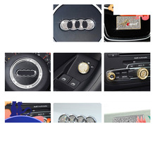 Lsrtw2017 Zinc Alloy Diamond Car Central Control Steering Wheel Air Conditioning Trims for Audi Q3 Accessories