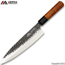 UZIMIA Handmade Forged 3layers 8Cr Steel Japanese Chef Knife Cleaver Knife Slicing Knife Kitchen Knives Sushi knife Sharp M10#3