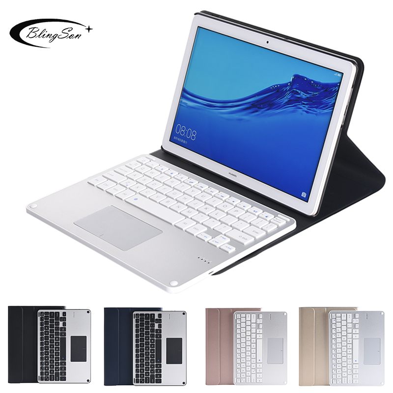Touchpad bluetooth clavier pour Huawei Mediapad T5 10 AGS2-L09 AGS2-W09/L03 housse de clavier pour Huawei T5 10.1 ''tablette