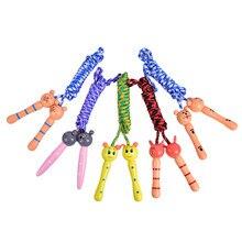 Cordas de pular para crianças 5 cores, esporte, fisiculturismo, fitness, adorável dos desenhos animados, cordas de pular, cabo de madeira