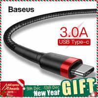 Cable Baseus USB tipo C para Samsung S10 S9 Cable de carga rápida 3,0 USB C de carga rápida para Huawei P30 Xiaomi Cable de carga USB-C