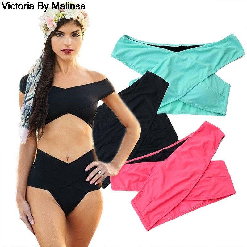 Women's Sexy Bikini sets Black Red Bikinis Top Women Bikini Bottoms Swimwear Green Secret Brazilian High Waist Bottom