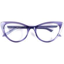 Las mujeres de gran tamaño de ojo de gato de monturas de diseño para gafas Italia acetato hechas a mano superligero