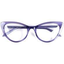 Women oversized cat eye designer glasses frames Italy handmade acetate super lightweight