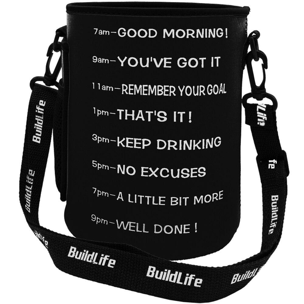 Bag Sleeve Bottle Cover Carrier With Shoulder Strap Suitable For Quifit 2.2L 2.5L 3.78L Gallon Water Bottle (No Bottle Included)