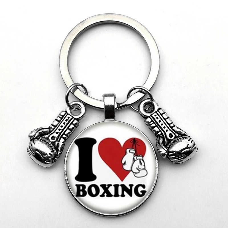 موضة شخصية الاحتلال قفازات الملاكمة المفاتيح الحركة قفازات ملهمة قلادة لكمة المفاتيح معلقة مجوهرات هدية