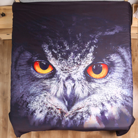 Owl in the night printed bed linens set single double size bedding set for comforter boy duvet cover set with pillowcases