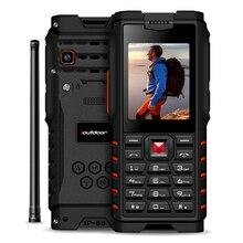 "Ioutdoor 4500 2600mah IP68防水耐衝撃ロシアキーボード頑丈な携帯電話2.4 ""トランシーバーインターホンfm携帯電話"