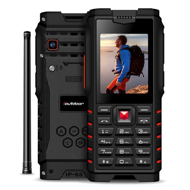 """ioutdoor 4500mAh IP68 Waterproof shockproof Russian keyboard rugged Mobile Phone 2.4"""" Walkie talkie intercom FM cellphone"""