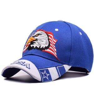 Image 3 - を 2019 新イーグル刺繍野球帽ファッションヒップホップの帽子アウトドアスポーツキャップ人格トレンドパパキャップ