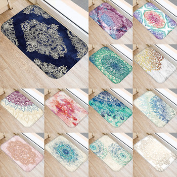 Living Room Doormats Colorful Marble Pink Mandala Anti-Slip Home Decorative Kitchen Floor Carpet Entrance Mat in Hallway 48232 image