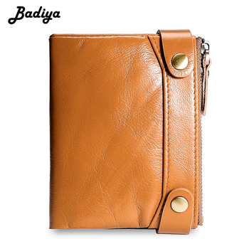 2020 New Men Wallet Genuine Leather Hasp Dual Zipper Short Coin Purse Multi Slots Credit Card Holder Vintage Male Clutch Bag фото