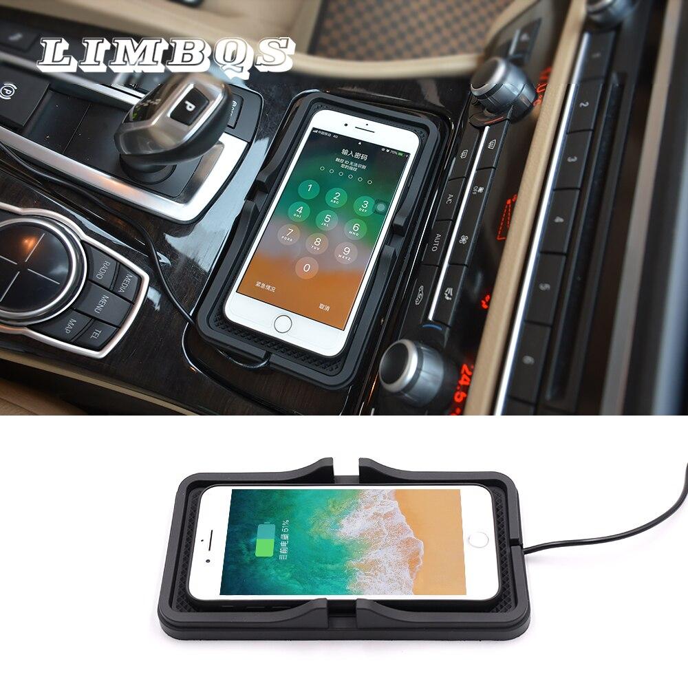 Auto drahtlose schnelle ladegerät für BMW f10 f11 f30 f32 universal für iphone 11 xr xs 8 dashboard halter halterung nicht -slip silikon stehen