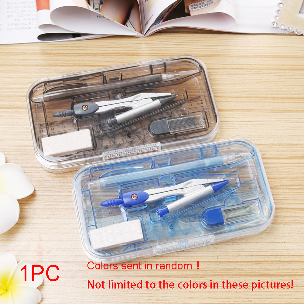 8pcs Template Professional School Random Color Drafting Drawing Geometry Stationery Ruler Student Math Sets