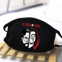 2020 модная маска для рта с мультяшным принтом, защитные маски унисекс для здоровья, дышащая маска из хлопка и полиэстера, комфортная Анти-пыл...