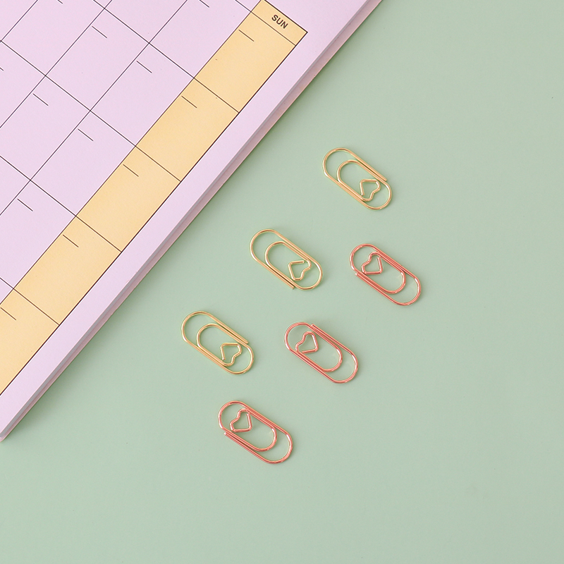 TUTU Effective Office Supplies the mini sliver Color Clip Bookmark Metal Office Accessories paper Clips Patchwork Clip H0082 4