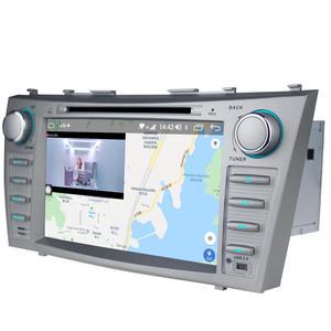 "Image 4 - 8 ""2 DIN Android รถวิทยุสเตอริโอ GPS หน่วย CASSETTE สำหรับ Toyota Camry 2011 2007 มัลติมีเดียไม่มีดีวีดีพวงมาลัย OBD2"