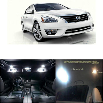 LED Interior Car Lights For nissan altima 2013 room dome map reading foot door lamp error free 9pc
