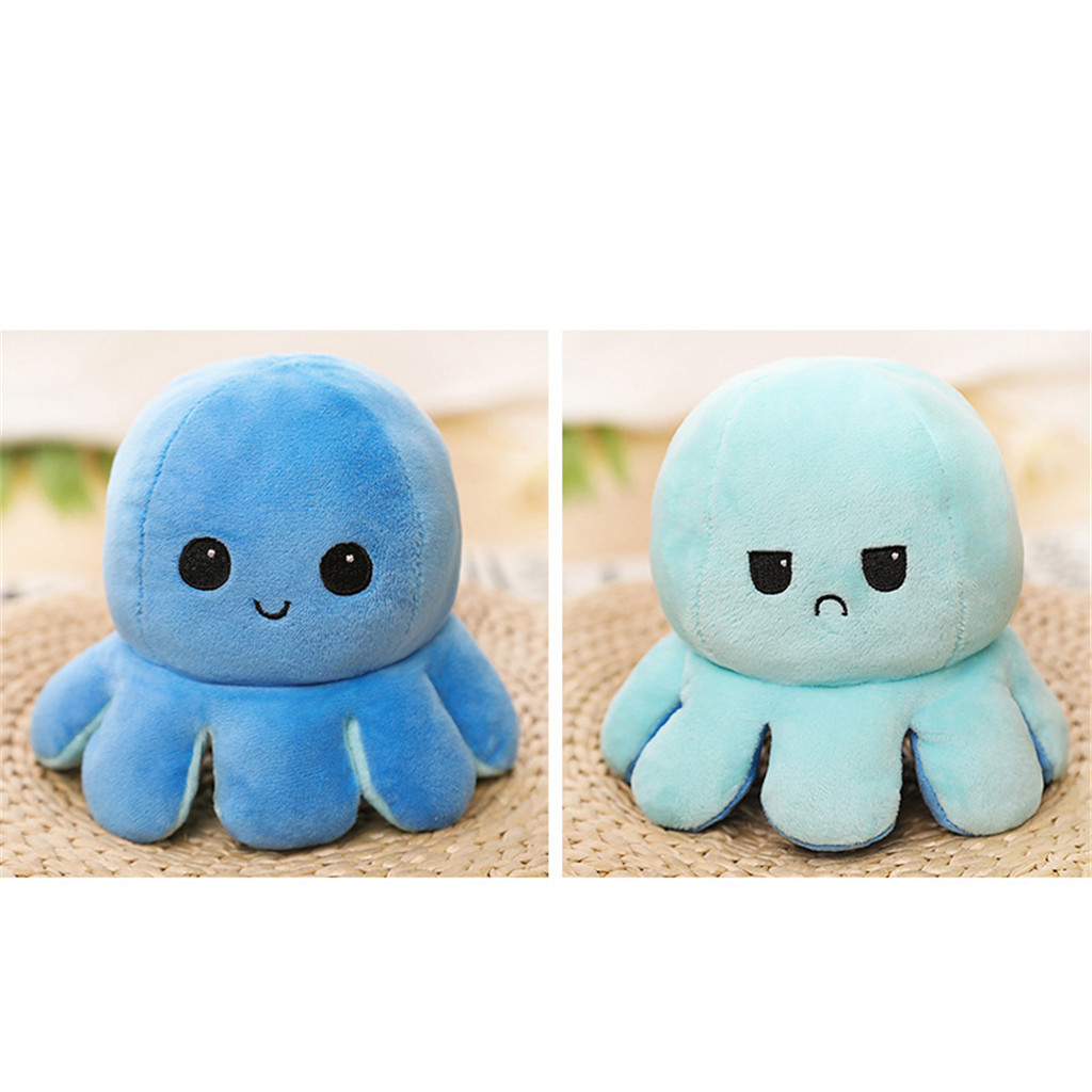 Children Plush Toys Octopus Mascot Double-sided Fashion Designer Animal Cartoon Mascot Stuffed Toys Funny Doll Funny Gift