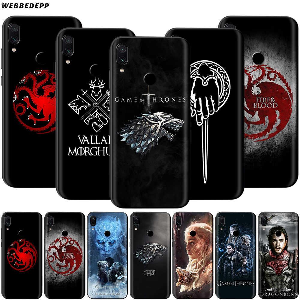 เกมของ Thrones กรณีสำหรับ Xiao Mi สีแดง Mi หมายเหตุ 8 Mi 3 6 8 9 A1 A2 A3 8A 6X9 T CC9 Lite SE PRO MAX F1 10