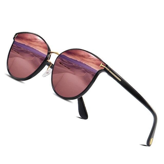 Мужские солнцезащ. Очки в круглой оправе AOFLY, черно золотистые солнцезащитные очки в круглой оправе с поляризованными линзами, пригодными для вождения, лето 2019